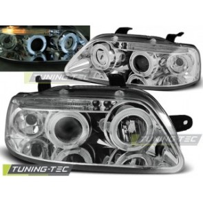 Koplamp set Chevrolet Aveo 03-06 Angel Eyes Chroom