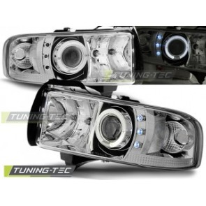 Koplamp set Dodge Ram 94-01 Angel Eyes Chroom