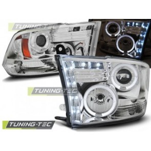 Koplamp set Dodge Ram 09-11 Angel Eyes Chroom