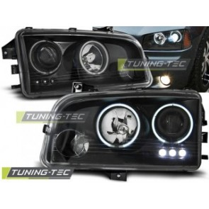Koplamp set Dodge Charger Lx 06-10 Angel Eyes Ccfl Zwart