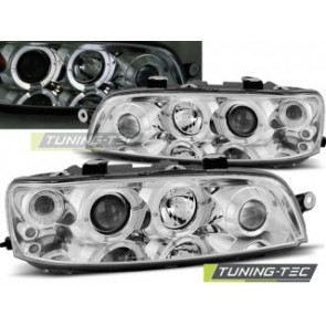 Koplamp set Fiat Punto 2 10.99-06.03 Angel Eyes Chroom