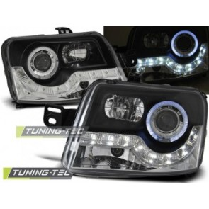 Koplamp set Fiat Panda 03- Daylight Zwart