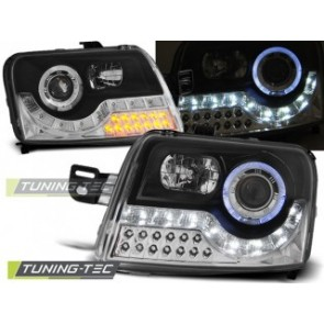 Koplamp set Fiat Panda 03- Daylight Zwartg