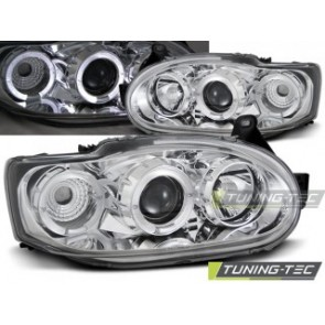Koplamp set Ford Escort Mk7 02.95-00 Angel Eyes Chroom