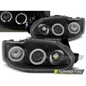 Koplamp set Ford Escort Mk7 02.95-00 Angel Eyes Zwart