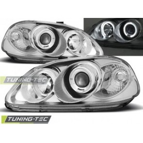 Koplamp set Honda Civic 09.95-02.99 Angel Eyes Chroom