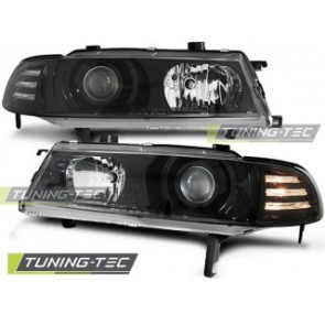 Koplamp set Honda Prelude 02.92-01.97 Angel Eyes Zwart