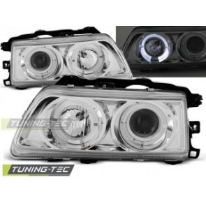 Koplamp set Honda Crx 09.87-89 Angel Eyes Chroom