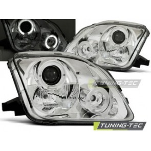 Koplamp set Honda Prelude 02.97-01 Angel Eyes Chroom