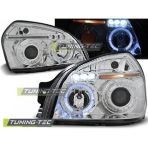 Koplamp set Hyundai Tucson 07.04-10 Angel Eyes Chroom