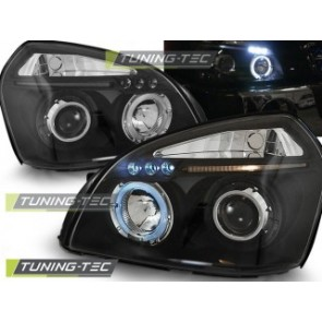 Koplamp set Hyundai Tucson 07.04-10 Angel Eyes Zwart
