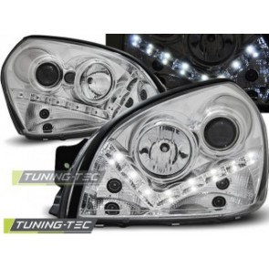 Koplamp set Hyundai Tucson 07.04-10 Daylight Chroom