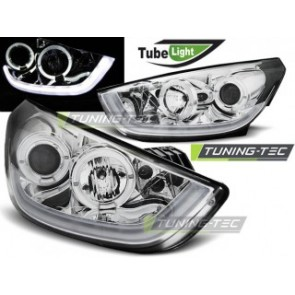 Koplamp set Hyundai Tucson Ix35 10-13 Chroom Tube Light