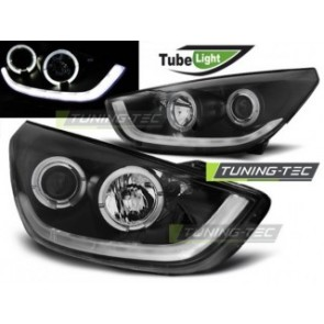 Koplamp set Hyundai Tucson Ix35 10-13 Zwart Tube Light