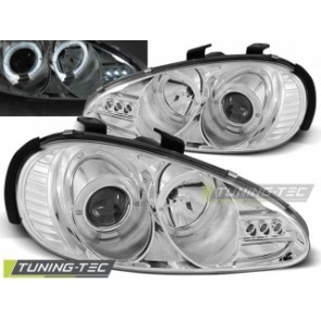 Koplamp set Mazda Mx3 91-98 Angel Eyes Chroom