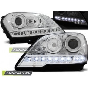 Koplamp set Mercedes R171 Slk 04-11 Daylight Zwart