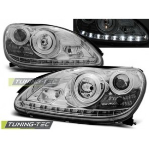 Koplamp set Mercedes W220 S- Klasse 09.98-05.05 Daylight Chroom