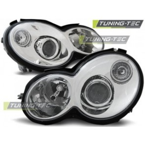Koplamp set Mercedes Cl203 C- Klasse 00-04 Chroom