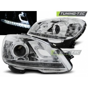 Koplamp set Mercedes W204 07-10 Daylight Chroom