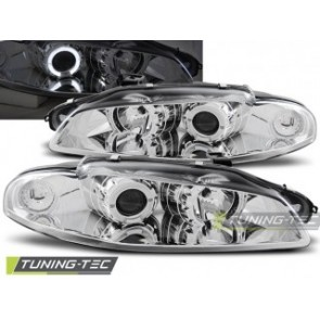 Koplamp set Mitsubishi Eclipse 97-12.98 Angel Eyes Chroom