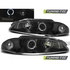 Koplamp set Mitsubishi Eclipse 97-12.98 Angel Eyes Zwart