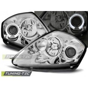 Koplamp set Mitsubishi Eclipse D50 00-05 Angel Eyes Chroom