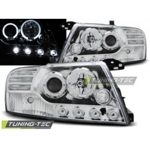 Koplamp set Mitsubishi Pajero V60 01-06 Angel Eyes Chroom