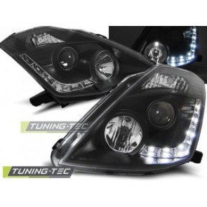 Koplamp set Nissan 350 Z 03-05 Daylight Zwart