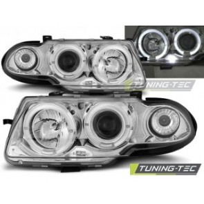Koplamp set Opel Astra F 09.91-08.94 Angel Eyes Chroom
