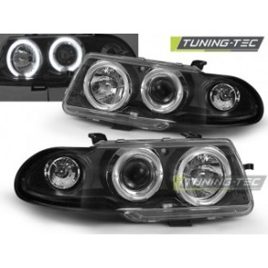 Koplamp set Opel Astra F 09.94-08.97 Angel Eyes Zwart