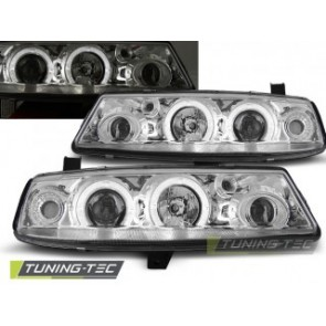 Koplamp set Opel Calibra 09.90-06.97 Angel Eyes Chroom