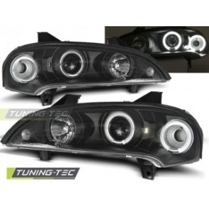 Koplamp set Opel Tigra 09.94-12.00 Angel Eyes Zwart