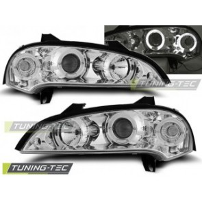 Koplamp set Opel Tigra 09.94-12.00 Angel Eyes Chroom