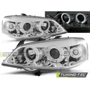 Koplamp set Opel Astra G 09.97-02.04 Angel Eyes Chroom