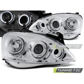Koplamp set Opel Corsa C 11.00 09.06 Angel Eyes Chroom