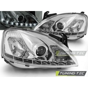 Koplamp set Opel Corsa C 11.00-09.06 Daylight Chroom
