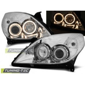 Koplamp set Opel Vectra C 09.05-08 Angel Eyes Chroom