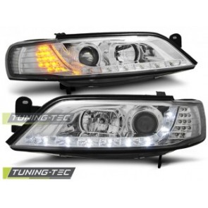 Koplamp set Opel Vectra B 11.96-12.98 Daylight Chroom LED knipperlicht