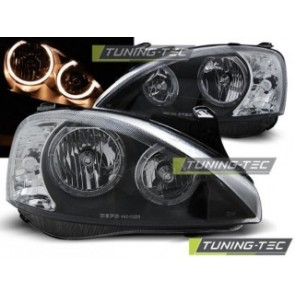 Koplamp set Opel Corsa C 11.00-09.06 Angel Eyes Zwart