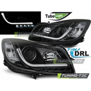 Koplamp set Opel Insignia 08-12 Zwart Tube Lights