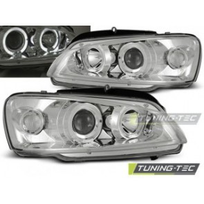 Koplamp set Peugeot 106 08.96-03 Angel Eyes Chroom