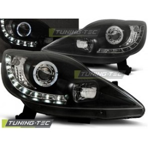 Koplamp set Peugeot 107 05-11 Daylight Zwart