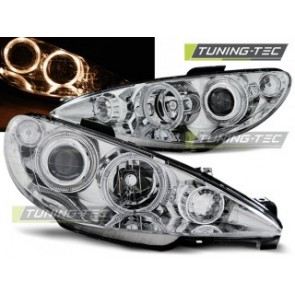 Koplamp set Peugeot 206 02- Angel Eyes Chroom