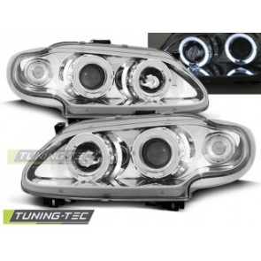 Koplamp set Renault Megane / Scenic 96-99 Angel Eyes Chroom