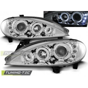 Koplamp set Renault Megane 03.99-10.02 Angel Eyes Chroom