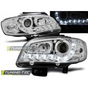 Koplamp set Seat Ibiza/Cordoba 09.99-03.02 Daylight Chroom