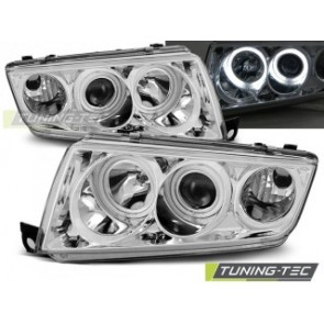 Koplamp set Skoda Fabia 1 12.99-08 Angel Eyes Chroom