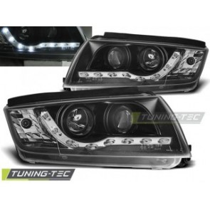 Koplamp set Skoda Fabia 12.99-08 Daylight Zwart