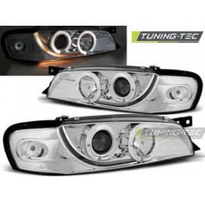 Koplamp set Subaru Impreza 05.93-10.00 Angel Eyes Chroom
