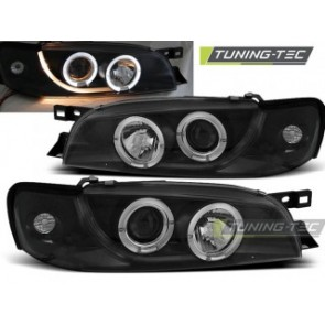 Koplamp set Subaru Impreza 05.93-10.00 Angel Eyes Zwart
